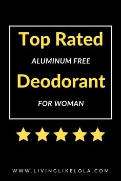 Aluminum Free Deodorant that actually works. Safe deodorant. Cancer free deodorant