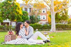 22 Cute Engagement Announcement Ideas You'll Want to Copy - Trust us—you won't want to spill the beans until you've seen these cute and creative engagement announcement ideas. outdoor picnic blanket cute engaged {Glass Woods Media} Creative Engagement Announcement, Engagement Photos, I M Engaged, Hand Pose, Number Balloons, Cute Signs, Focus Photography, Real Couples, Party Props