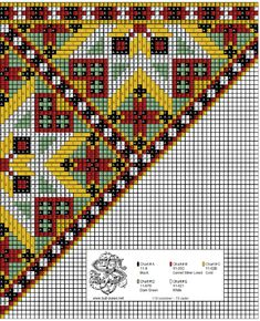 Peyote Patterns, Loom Patterns, Cross Stitch Charts, Cross Stitch Patterns, Scandinavian Embroidery, Hardanger Embroidery, Chart Design, Peyote Stitch, Loom Beading