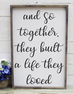 Excited to share the latest addition to my #etsy shop: And So Together They Built A Life They Loved Entryway Decor Farmhouse Decor Foyer Rustic Entryway Decor Large Signs Farmhouse Signs
