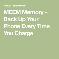MEEM is a smartphone cable that automatically backs up the data on your phone to the cable every time you charge your Android or iPhone. Geek Gear, Cool Technology, Smartphone, Memories, Cable, Tips, Memoirs, Cabo, Souvenirs