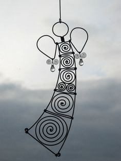 Wire Angel Ornament In Colorlessness by MyWireArt on Etsy, $18.00