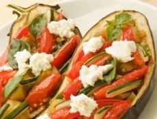 Berenjenas rellenas de verduras