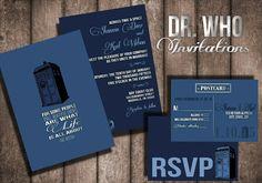 Dr. Who Wedding Invitation Digital or Printed option by BowersInk