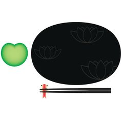 Alessi Lily Pond sushi set ($69) ❤ liked on Polyvore featuring home, kitchen & dining and alessi