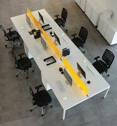 Nova desk - Bench desks - White office  bench desks