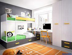 F_54 Literas, modernas, elegantes, resistentes... que se te harán irresistibles a la hora de configurar tu habitación juvenil. Ideales para espacios reducidos.