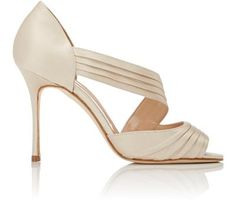 Manolo Blahnik Treuil Asymmetric-Strap Sandals at Barneys New York