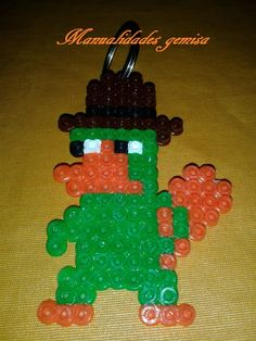 Llavero Perry hama beads by Manualidades Gemisa