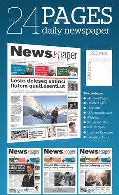 Best Print Newspaper Templates in Adobe InDesign & Photoshop - Designsmag.org