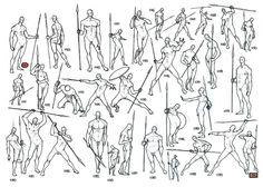 Dynamic figure drawings; warrior. Sketchbook art. #art #ink #figure #anatomy #body #man #spear #warrior #sketch #sketching #instaart #instapic