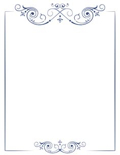 Printable scroll border. Free GIF, JPG, PDF, and PNG downloads at http://pageborders.org/download/scroll-border/. EPS and AI versions are also available.