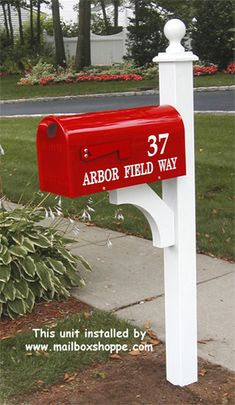I like the idea of a red mailbox