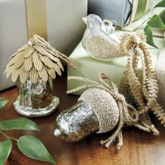 Avian Mercury Glass Ornaments - Set of 3