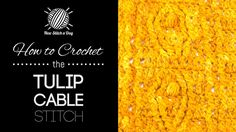 How to Crochet the Tulip Cable Stitch
