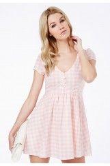 Annie Gingham Skater Dress
