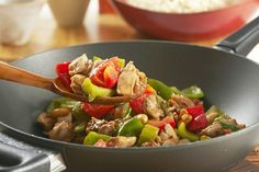 Enjoy our yummy Takeout-Style Kung Pao Chicken without ever leaving home. Takeout-Style Kung Pao Chicken is a spicy recipe you can make yourself. Spicy Recipes, Asian Recipes, Chicken Recipes, Cooking Recipes, Ethnic Recipes, What's Cooking, Chicken Meals, Turkey Dishes, Kraft Recipes