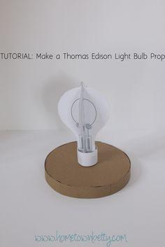 thomas edison light bulb prop