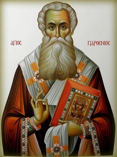 Parthenios of Lampsakos Byzantine Icons, Byzantine Art, Christian World, Christian Art, Religious Icons, Religious Art, Luke The Evangelist, Art Carved, Orthodox Icons
