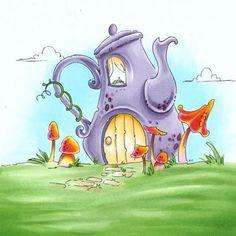 Whimsical Teapot digi stamp in Digital images  Make it Crafty