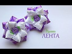 DIY kanzashi flores tres capas de pétalos - flowers kanzashi three layers of petals - YouTube