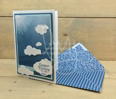 Cloud Shaping | Stampin\' Up! | Flourishing Phrases | Wherever You Go | Timeless Textures | Sky Is The Limit #literallymyjoy #plane #eagle #clouds #comfort #healing #sympathy #ColorTheoryDSP #heatembossing #monochromatic #cloudwatching #20172018AnnualCatalog