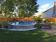 Having a pool sounds awesome especially if you are working with the best backyard pool landscaping ideas there is. How you design a proper backyard with a pool matters. Above Ground Pool Landscaping, Backyard Pool Landscaping, Small Backyard Pools, Small Pools, Landscaping Ideas, Landscaping Plants, Oberirdische Pools, Semi Inground Pools, Cool Pools