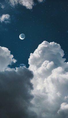 Tumblr Wallpaper, Night Sky Wallpaper, Cloud Wallpaper, Iphone Background Wallpaper, Galaxy Wallpaper, Nature Wallpaper, Blue Sky Wallpaper, Iphone Wallpaper Moon, Phone Backgrounds