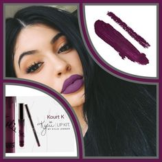 COMING SOON Kylie Lip Kit Kourt KBNIB NO TRADESPRICE IS FIRM unless bundled! (Price will drop to $50 when becomes available)  #KylieLipKit by Kylie Jenner | Kourt K  Kourt K is a deep purple. The #KylieLipKit is your secret weapon to create the perfect 'Kylie Lip.' Each Lip Kit comes with a Matte Liquid Lipstick and matching Lip Liner.  Contains:  1 Matte Liquid Lipstick (0.11 fl oz./oz. liq / 3.25 ml)  1 Pencil Lip Liner (net wt./ poids net  .03 oz/ 1.0g). Kylie Cosmetics Makeup Lipstick
