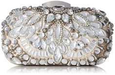 Aldo Wade Clutch Handbag | Clutch Handbags--- Color: Silver ---- 100% Polyester---- Imported---- polyester lining---- Kiss Lock closure---- Beaded box clutch---- Beautiful,Elegant,Simple and Cute Clutch Handbags suitable for wedding,casual and party for Summer/Spring of 2016 Great for gift----  Essentials----