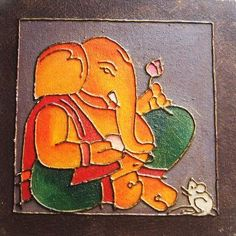 This is a beautiful Abstract wall art piece of Lord Ganesha which will fill your home with divinity and warmth. Mixed Media on Canvass board with Acrylic colours.