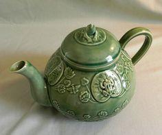 Rare Bordallo Pinheiro Majolica Frog on Lily Pad Teapot | eBay