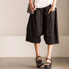 Black linen shorts summer clothes holiday