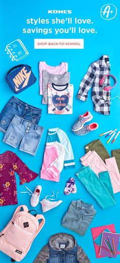 3450269b Ace her back-to-school style with staples from Kohl's. Find fun essentials