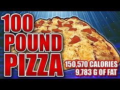 100-Pound Pizza - Epic Meal Time - YouTube. It is the most beautiful, most American thing I have seen in my life. The funny part is these guys are Canadian.