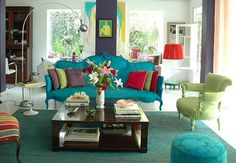 Love this couch! Color combo!!!