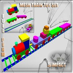 Mesh Train Toy 5 impact Full perm