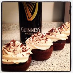 How to Make Chocolate Stout Cupcakes With Guinness Icing