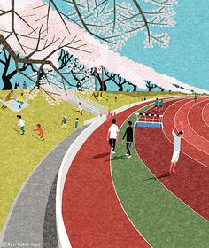 Musashino Athletic Stadium | Cover illustration for Quarterl… | Flickr - Photo Sharing!