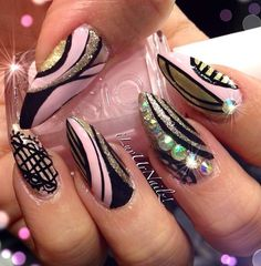 Like the designs, I'm not a fan of the pointed nails