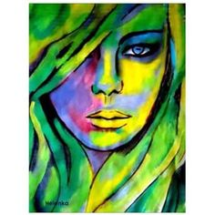 Stunning abstract face