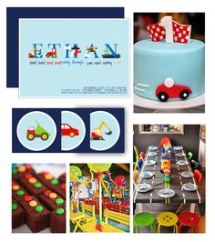 I've been hard at work designing a very specialTransportation Party themefor a growing little boy. This little man LOVES anything with wheels, and what better way to celebrate than with all…