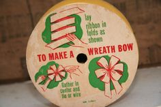 how to make a wreath bow #etsy $8.95