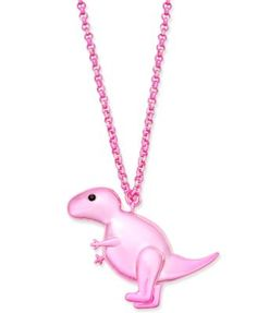 caf8721fdab kate spade new york Pink-Tone T-Rex Pendant Necklace & Reviews - Fashion  Jewelry - Jewelry & Watches - Macy's