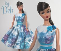 Aqua Swing - Vintage Reproduction Repro Barbie Doll Dress Clothes Fashion
