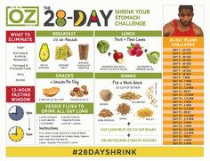 28 day shrink your stomach challenge, 28 day shrink your stomach instructions, dr. oz 28 day shrink your stomach recipes