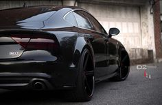 Audi A7... All black... This thing is mean!