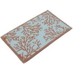 Cosmic Inc. Coral Bath Rug Color: