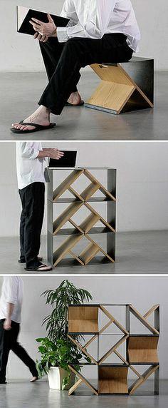 Steelstool by Noon Studio  Love this it's simple.