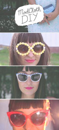 Three styles of sunny summer sunglasses! #diy